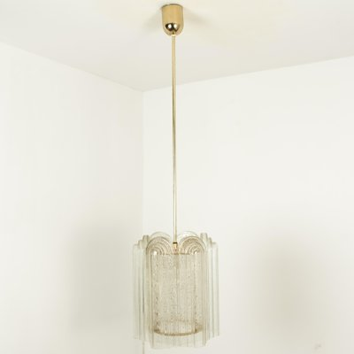 Art Deco Style Glass Brass Pendant Lamps By Doria Leuchten Germany For Tracie 1960s Set Of 2 For Sale At Pamono