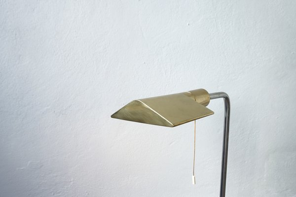 Brass And Chrome Floor Lamp From Cedric Hartman 1970s For Sale At Pamono