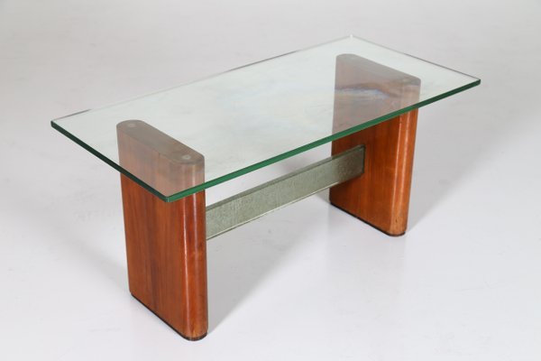 Mid Century Glass And Wood Coffee Table, Coffee Tables Glass And Wood