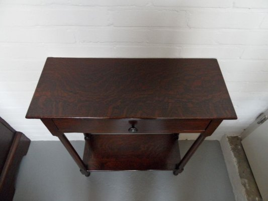Small Antique Oak Side Table With Drawer For At Pamono - Small Oak Side Table With Drawers