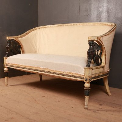 Antique Empire Style Swedish Sofa For