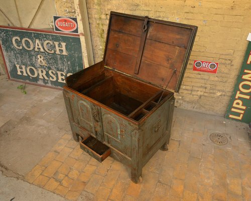 Antique Wooden Chest For At Pamono