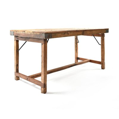 Wooden Folding Table For Sale At Pamono