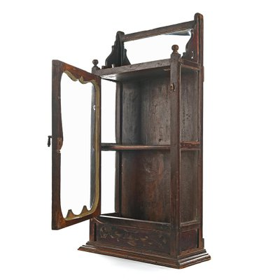 Dark Wooden Display Cabinet For At