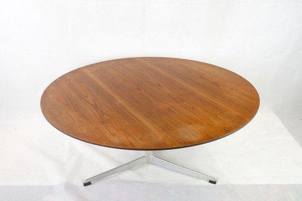 Teak Coffee Table On 3 Legged Aluminium