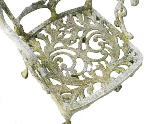 Weathered Cast Iron Patio Garden Chair, Cast Iron Patio Furniture