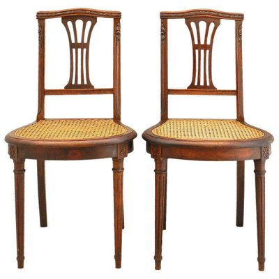 Louis Xvi Side Chairs With Caned Seats