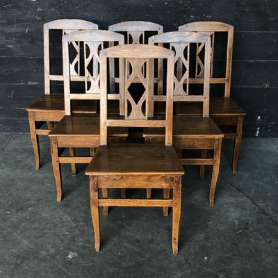 French Country Farmhouse Dining Chairs Set Of 6 For Sale At Pamono