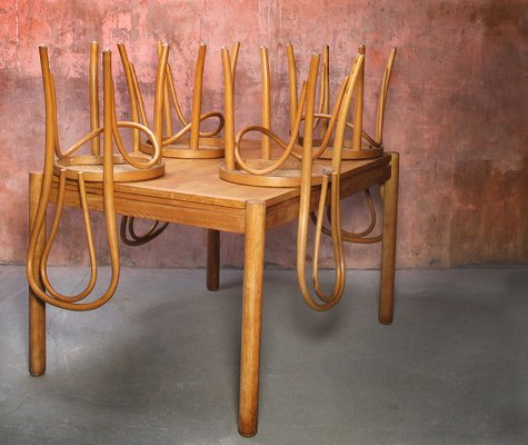 Vintage Dining Table Chairs Set Set Of 5 For Sale At Pamono