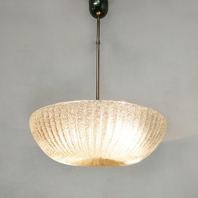 Art Deco Italian Murano Glass And Brass Ceiling Lamp 1940s For Sale At Pamono
