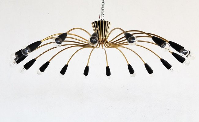 Light Chandelier In Br And Aluminium