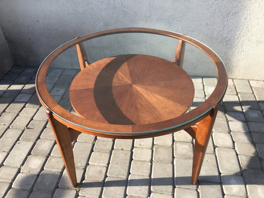 Art Deco Style Coffee Table With Glass 1950s For Sale At Pamono