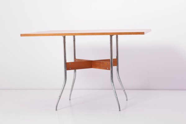 Swaged Leg Dining Table Chairs By George Nelson For Herman Miller 1950s Set Of 5 For Sale At Pamono