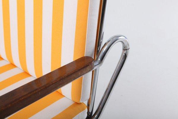 Vintage Tubular Chrome Lounge Chair, 1950s