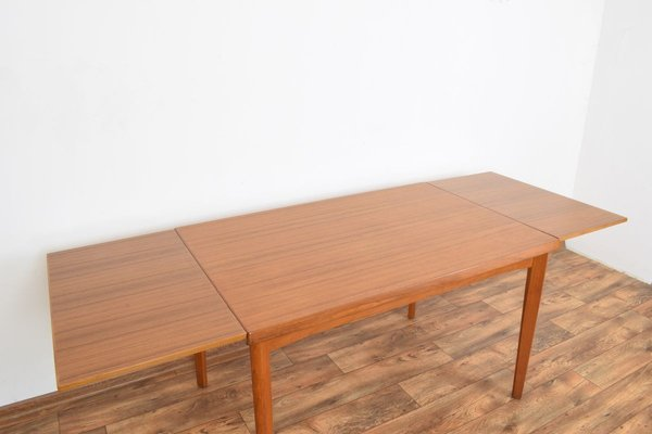 Mid Century Danish Teak Extendable Dining Table 1960s For Sale At Pamono