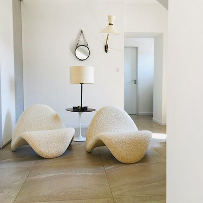 Artifort Design Bank.Model F577 Language Lounge Chairs By Pierre Paulin For Artifort