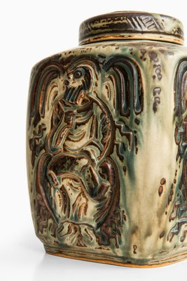 Dänische Keramik Vase mit Deckel von Jais Nielsen für Royal Copenhagen, 1950er