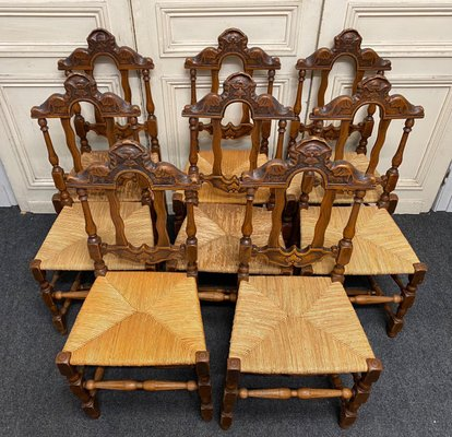 Antique French Farmhouse Dining Chairs Set Of 8 For Sale At Pamono