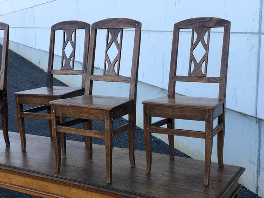 Antique French Farmhouse Dining Chairs Set Of 6 For Sale At Pamono