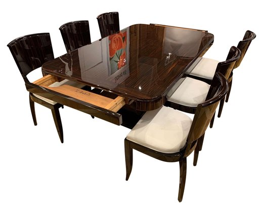 Art Deco Expandable Dining Room Set In, Dining Room Sets With Expandable Table