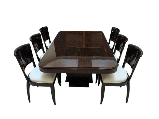Art Deco Expandable Dining Room Set In, Dining Room Sets With Expandable Tables