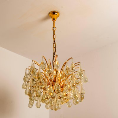 Large Murano Glass Tear Drop Chandelier by Christoph Palme, Germany, 1970s