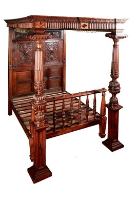 Antique Victorian Carved Oak