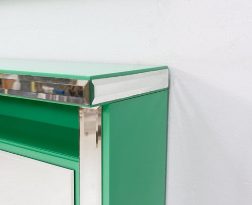 Mint Green Console And Mirror Set