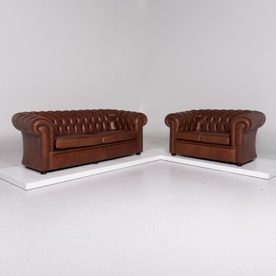 Red Brown Leather Sofas From