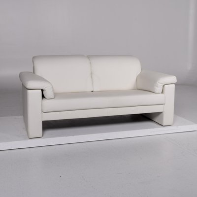 White Leather 2 Seat Sofa Set From Rolf