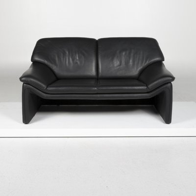 Black Leather 2 Seat Sofa From Laauser