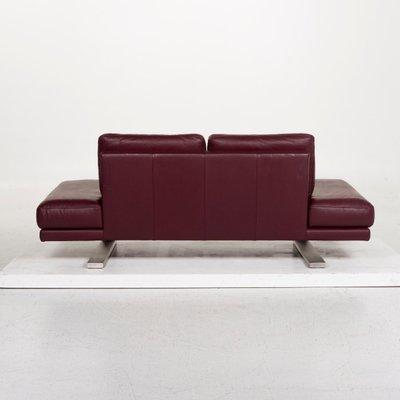6601 Aubergine Purple Leather 2 Seat