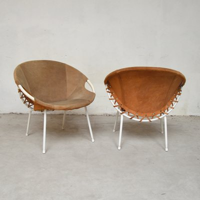Circle Lounge Chairs By Erzeugnis Germany 1960s Set Of 2 For Sale At Pamono