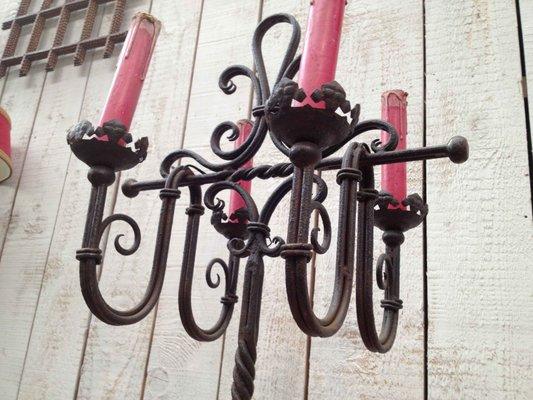 Lampe de bureau en fer forgé 1940 en vente sur pamono