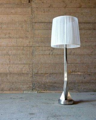 Vintage Floor Lamp From Desny 1920s, Vintage Silver Floor Lamp