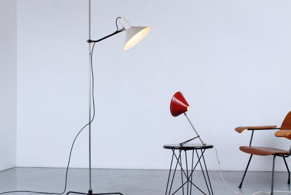 Tripod Black and White Floor Lamp by J. J. M. Hoogervorst for Anvia, 1950s