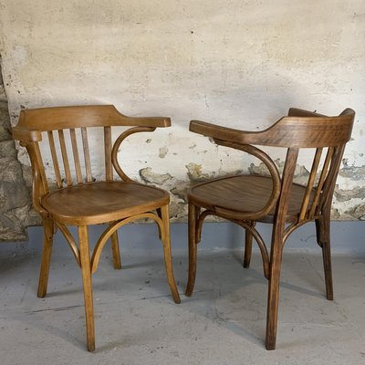 Mid Century Wooden Bistro Derby Chairs