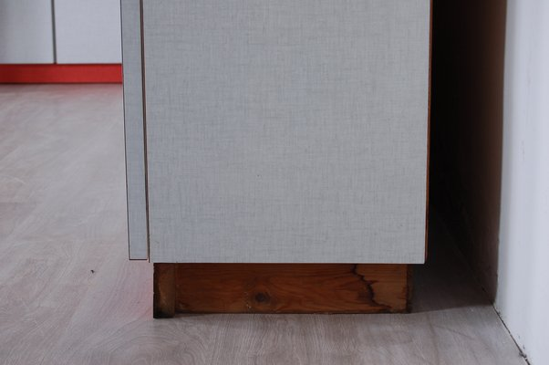 Vintage White And Coral Formica Kitchen Cupboards 1950s Set Of 4 For Sale At Pamono