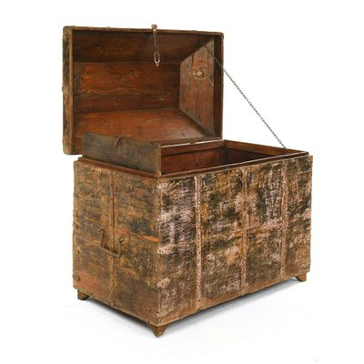 Antique Wooden Chest 1920s For At