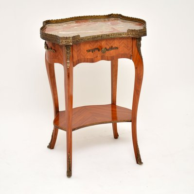Antique French Marble Top Side Tables