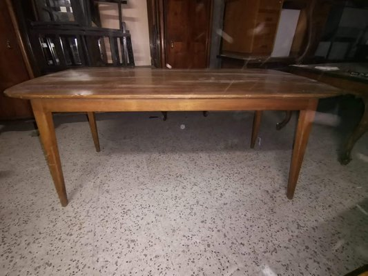 Vintage Italian Rectangular Dining Table With Oval Top 1950s For Sale At Pamono