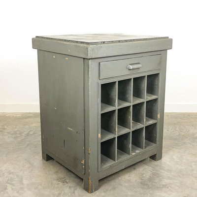 Vintage Industrial Printer Table Kitchen Island With Stone Top For Sale At Pamono