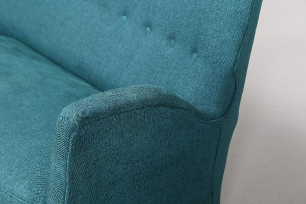 Light Blue Sofa With Conical Legs From, Light Blue Furniture