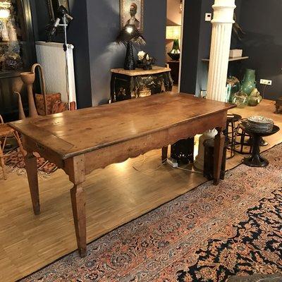 Antique Walnut Farmhouse Dining Table, Antique Farmhouse Dining Table And Chairs