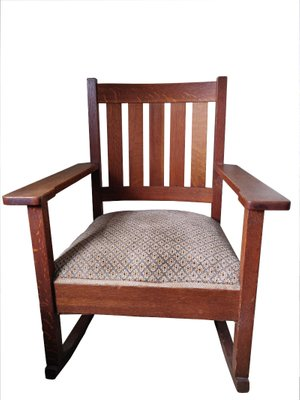 Antique Arts Crafts Rocking Chair By Stickley For Sale At Pamono