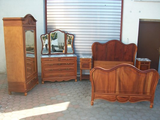 Antique Walnut Bedroom Set 1890s For Sale At Pamono