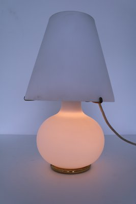 Mid Century Frosted Glass Table Lamp