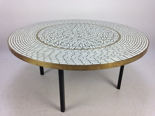 Large Round Mosaic Coffee Table By Berthold Muller 1950s For Sale At Pamono