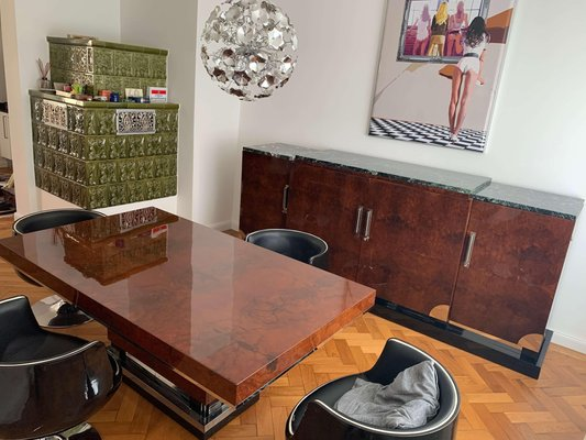 Art Deco Dining Room Table In Walnut Roots Southern France 1930s For Sale At Pamono