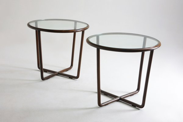 Round Side Tables By Joaquim Tenreiro 1950s Set Of 3 For Sale At Pamono